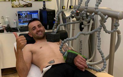 Recuperación movilidad de muñeca del piloto Héctor Barberá